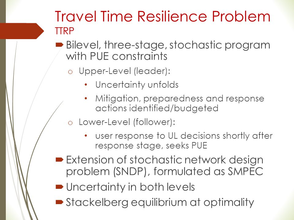 Travel Time Resilience Problem TTRP