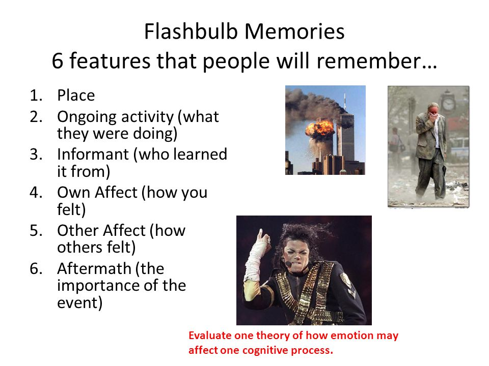 Flashbulb Memories 6 features that people will remember…
