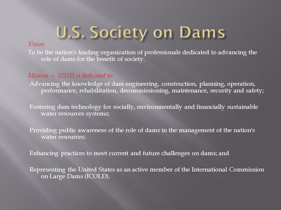 U.S. Society on Dams Vision