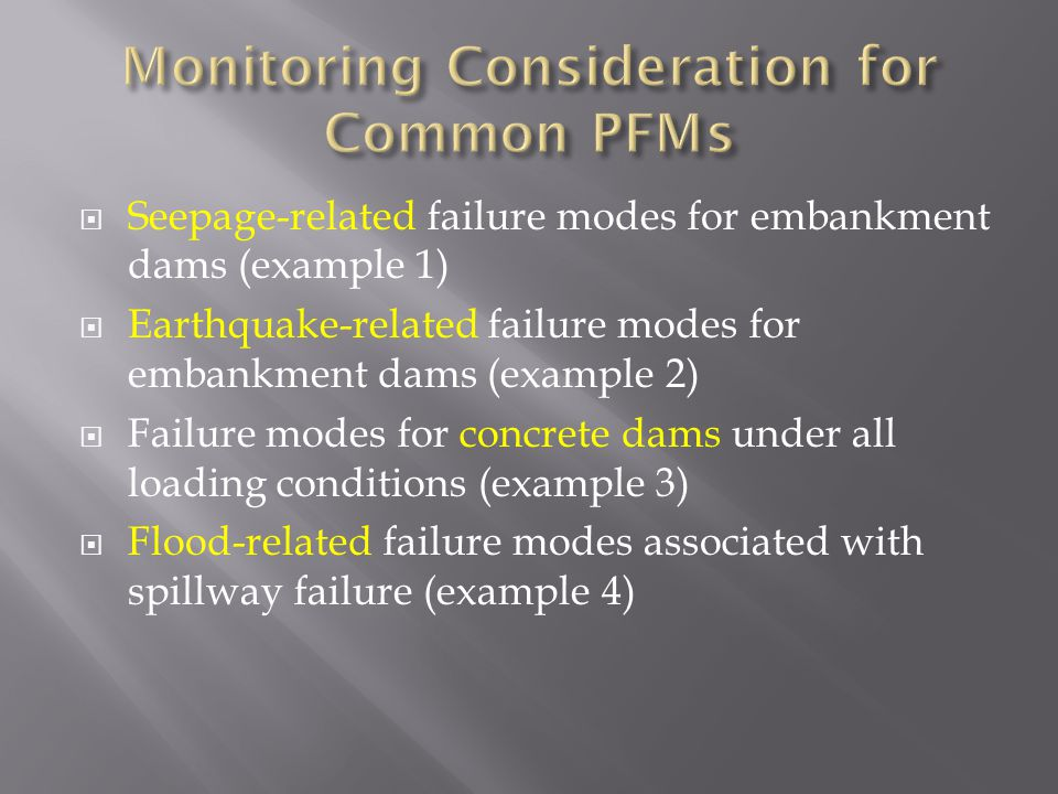Monitoring Consideration for Common PFMs