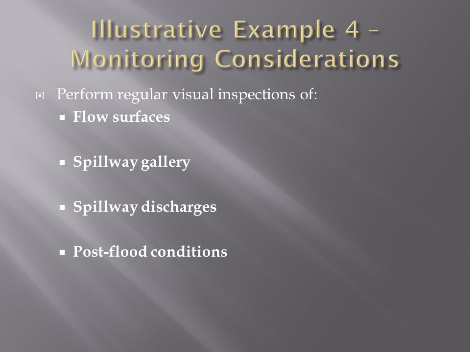 Illustrative Example 4 – Monitoring Considerations
