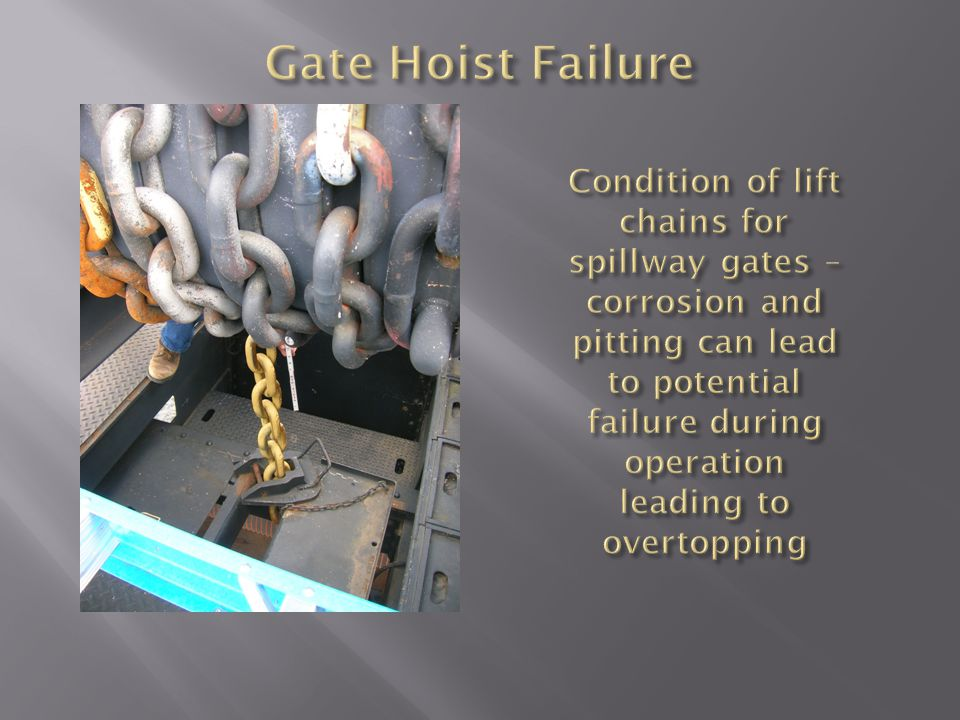 Gate Hoist Failure