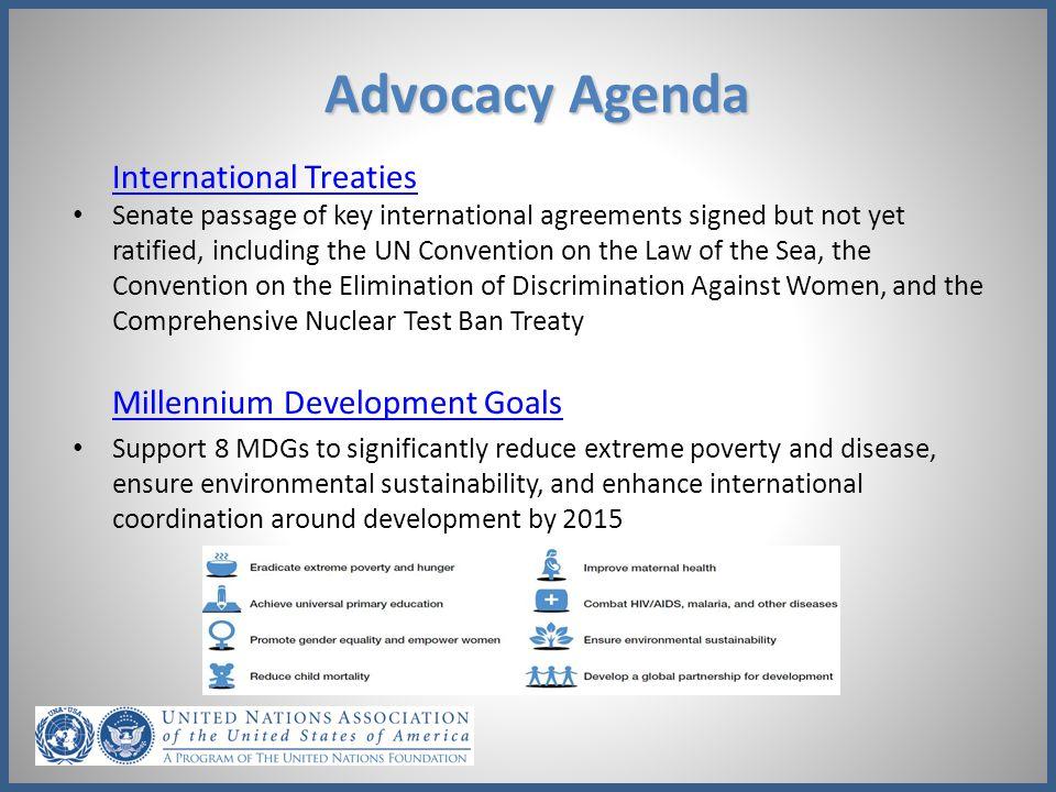 Advocacy Agenda International Treaties