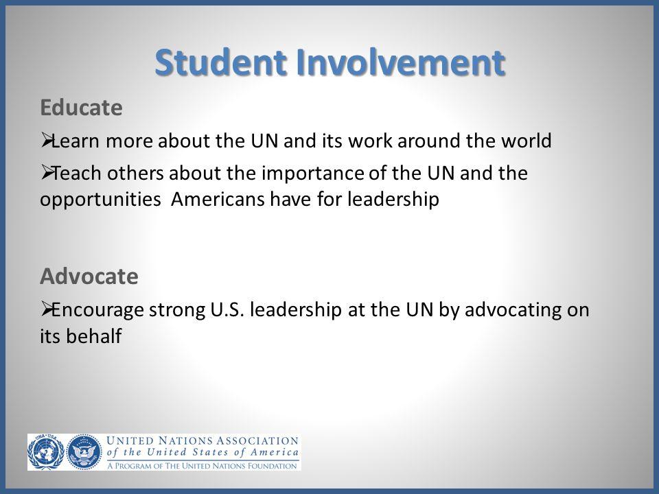 Student Involvement Educate Advocate