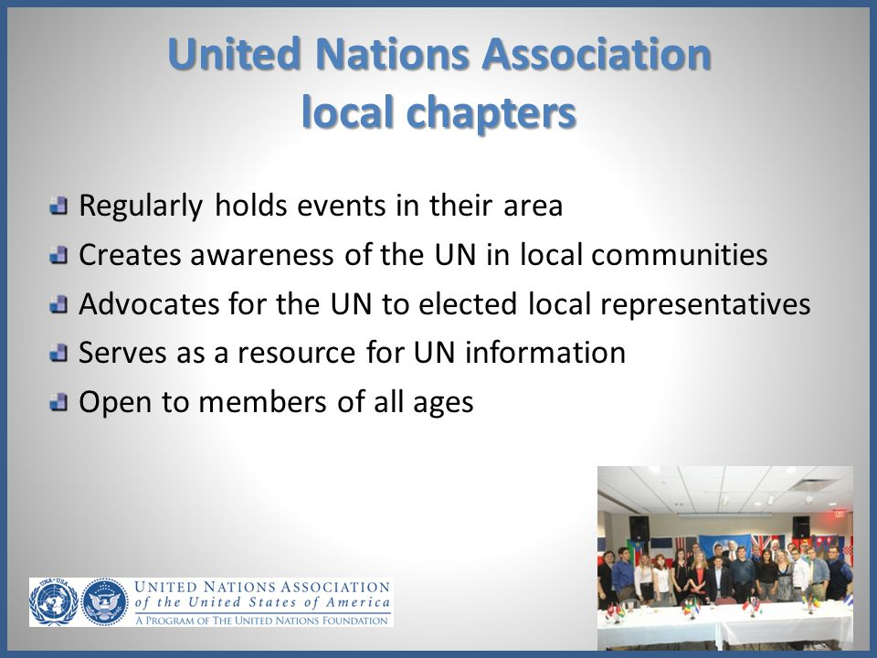 United Nations Association local chapters