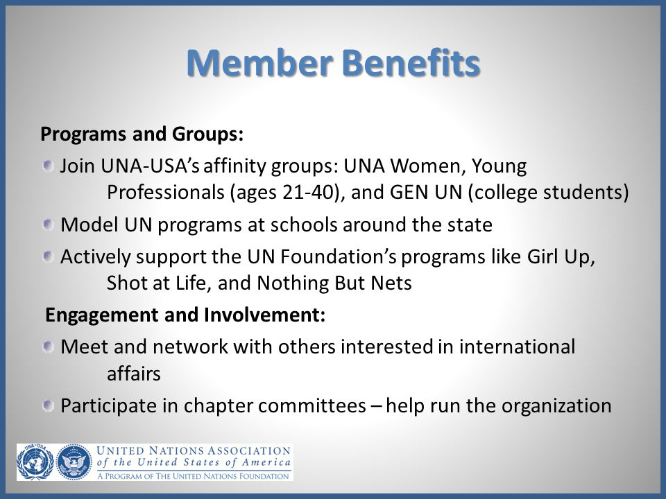 Member Benefits Programs and Groups: