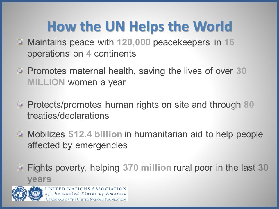 How the UN Helps the World