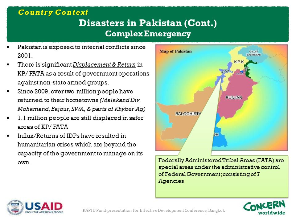Disasters in Pakistan (Cont.)