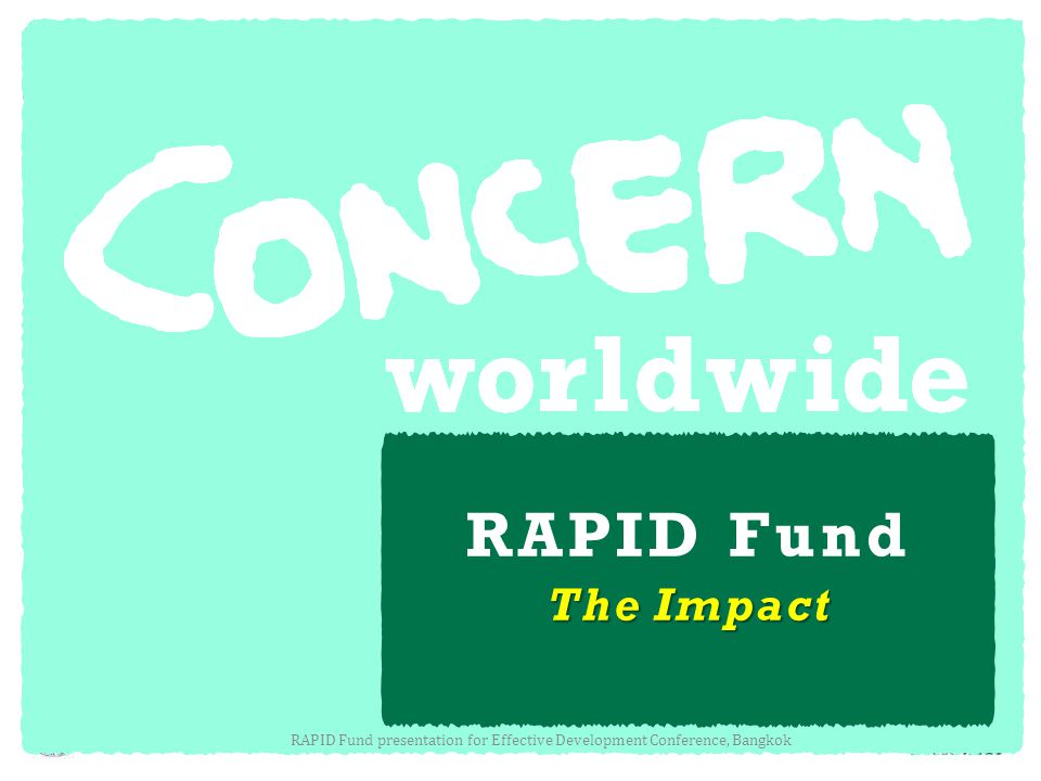 RAPID Fund presentation for Effective Development Conference, Bangkok