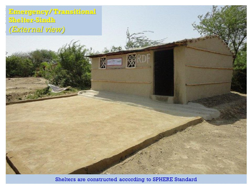 (External view) Emergency/ Transitional Shelter-Sindh