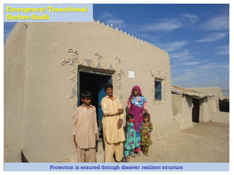 Emergency/ Transitional Shelter-Sindh