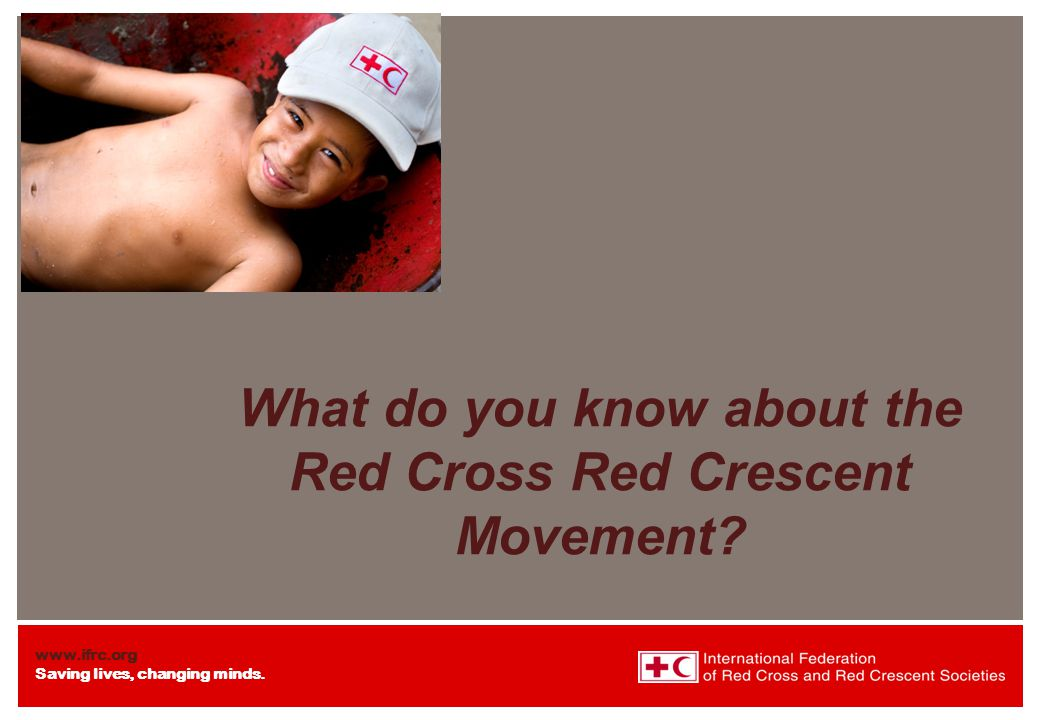 What do you know about the Red Cross Red Crescent Movement