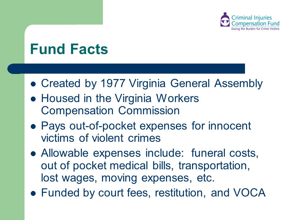 Fund Facts Created by 1977 Virginia General Assembly