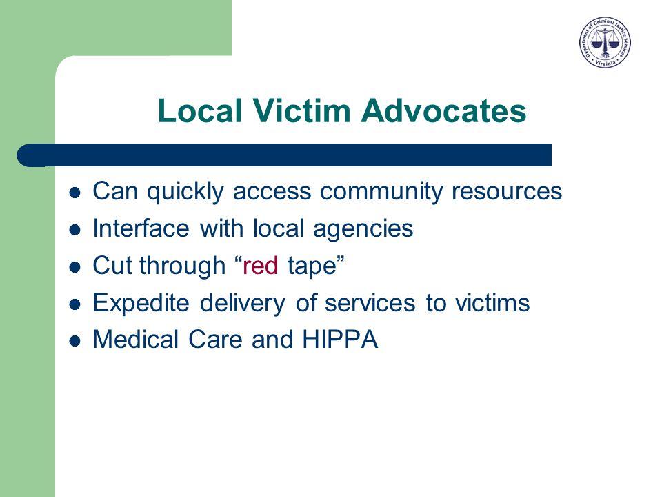 Local Victim Advocates