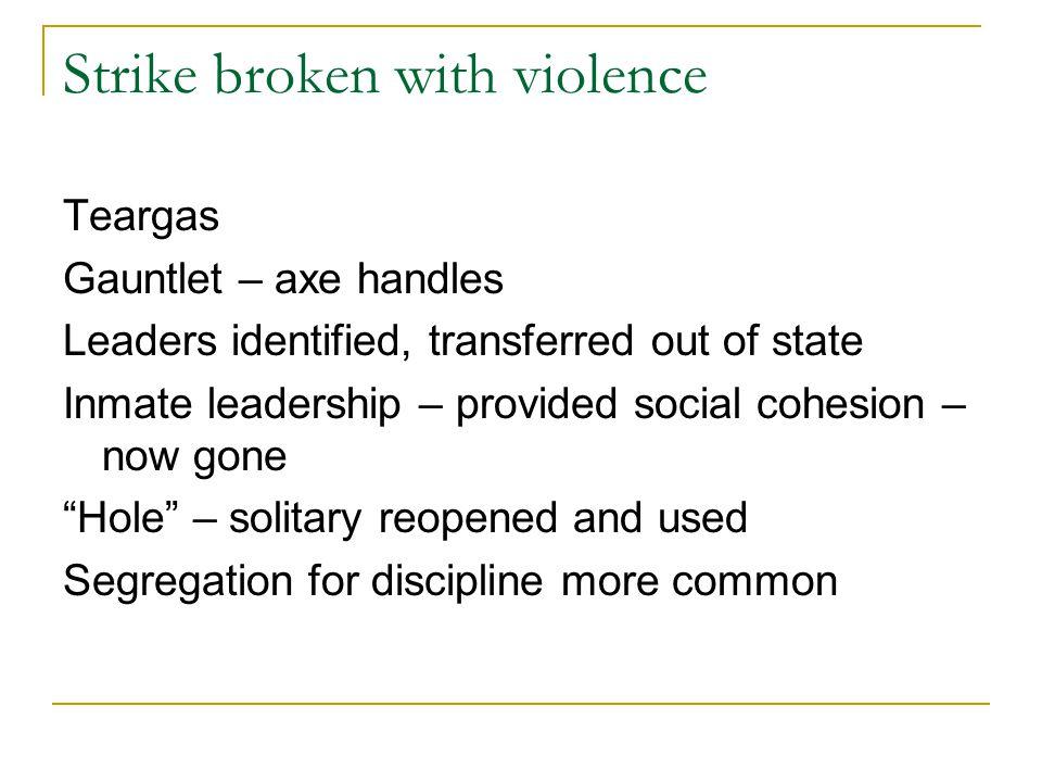 Strike broken with violence
