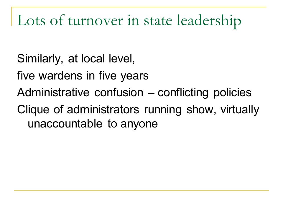 Lots of turnover in state leadership