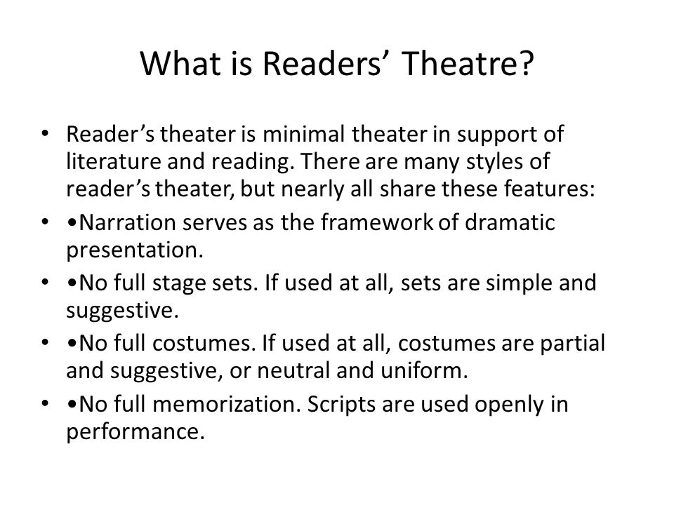 What is Readers' Theatre