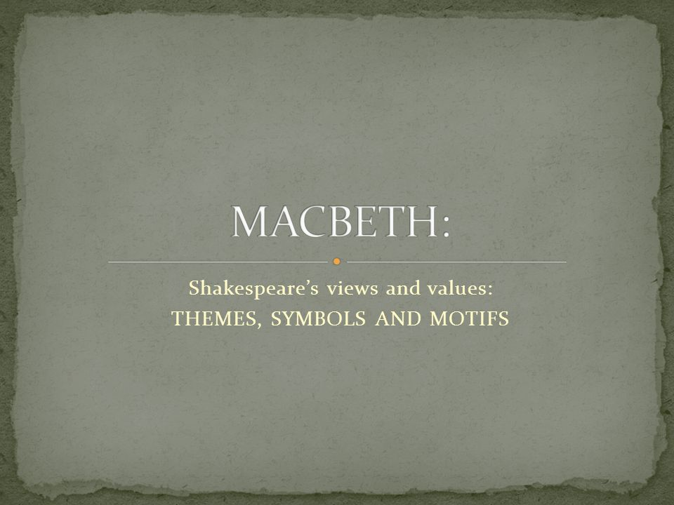 symbolism in macbeth pdf