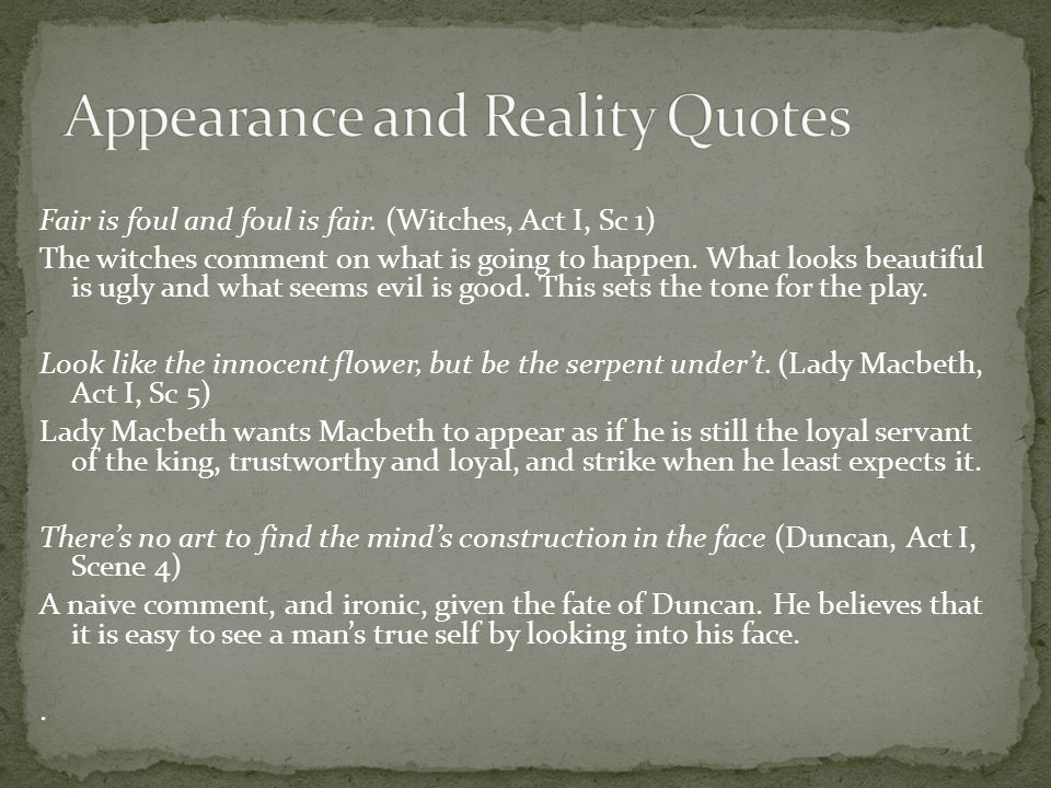 Appearance and Reality Quotes
