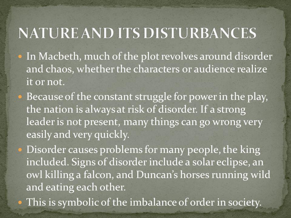 NATURE AND ITS DISTURBANCES