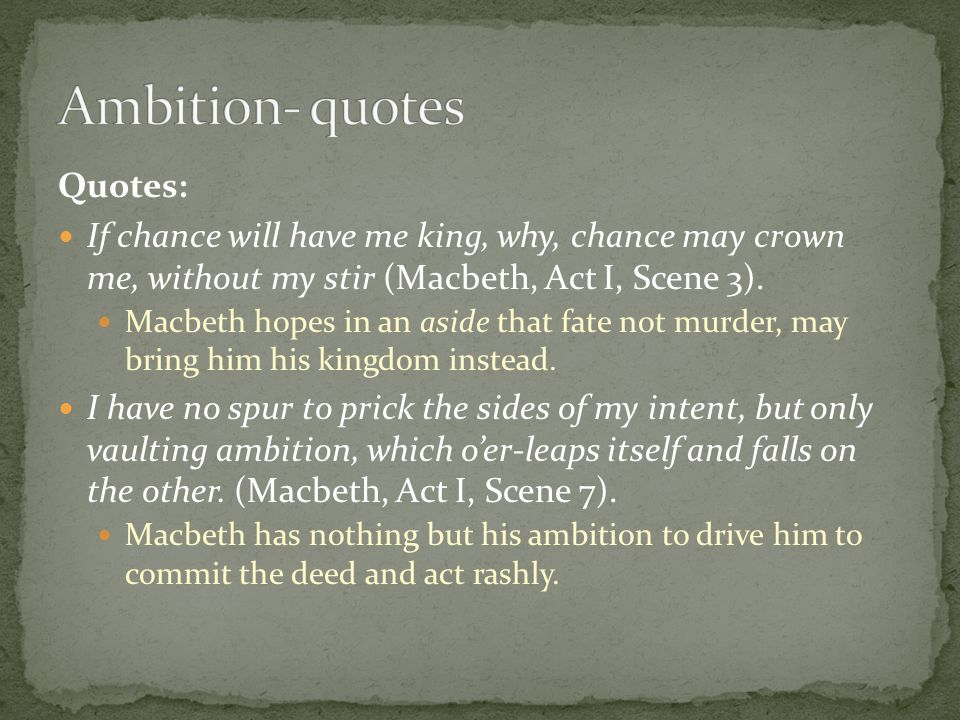 quotes as a result of macbeth concerning ambition