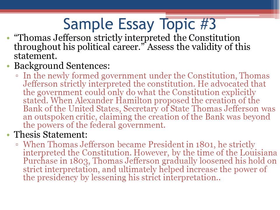 Essay on thomas jefferson