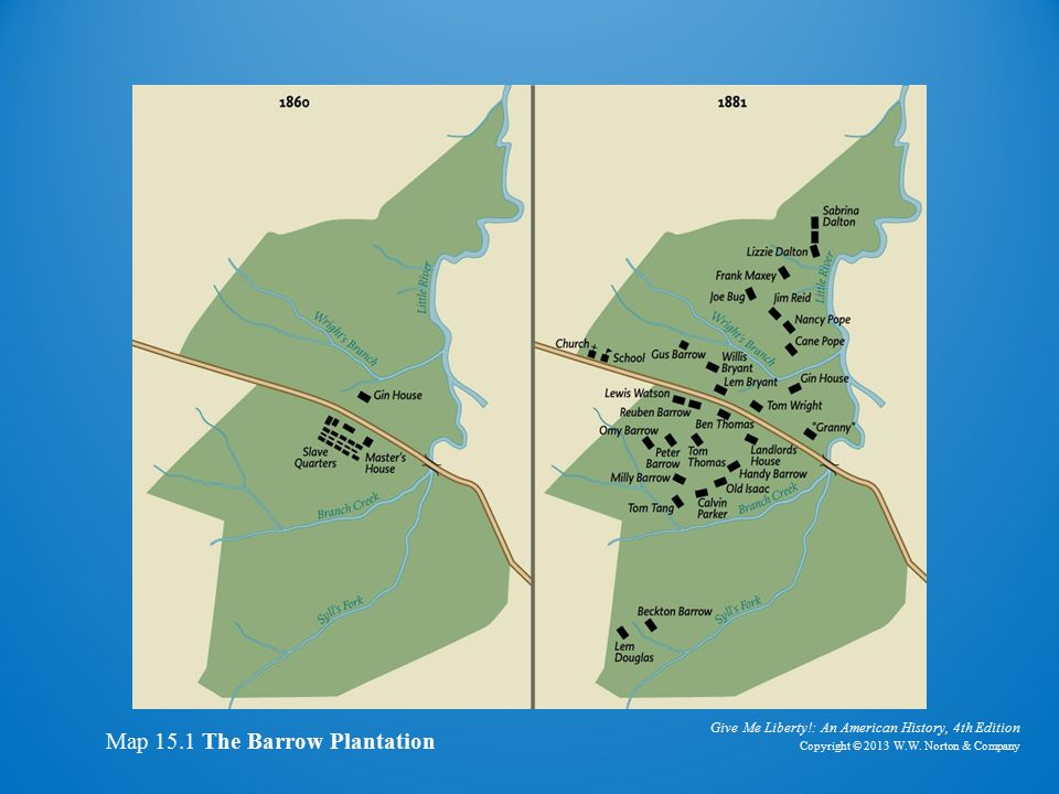 Map of Barrow Plantation
