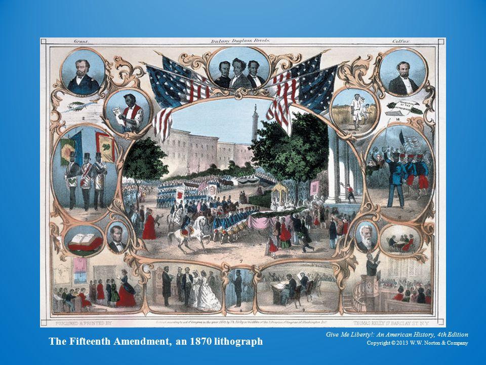 Lithograph The Fifteenth Amendment