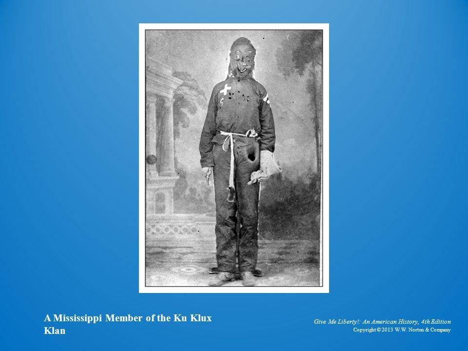 Photo of KKK Member A Mississippi Member of the Ku Klux Klan