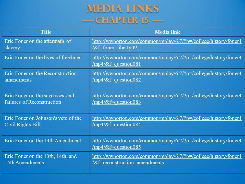 MEDIA LINKS —— Chapter 15 ——