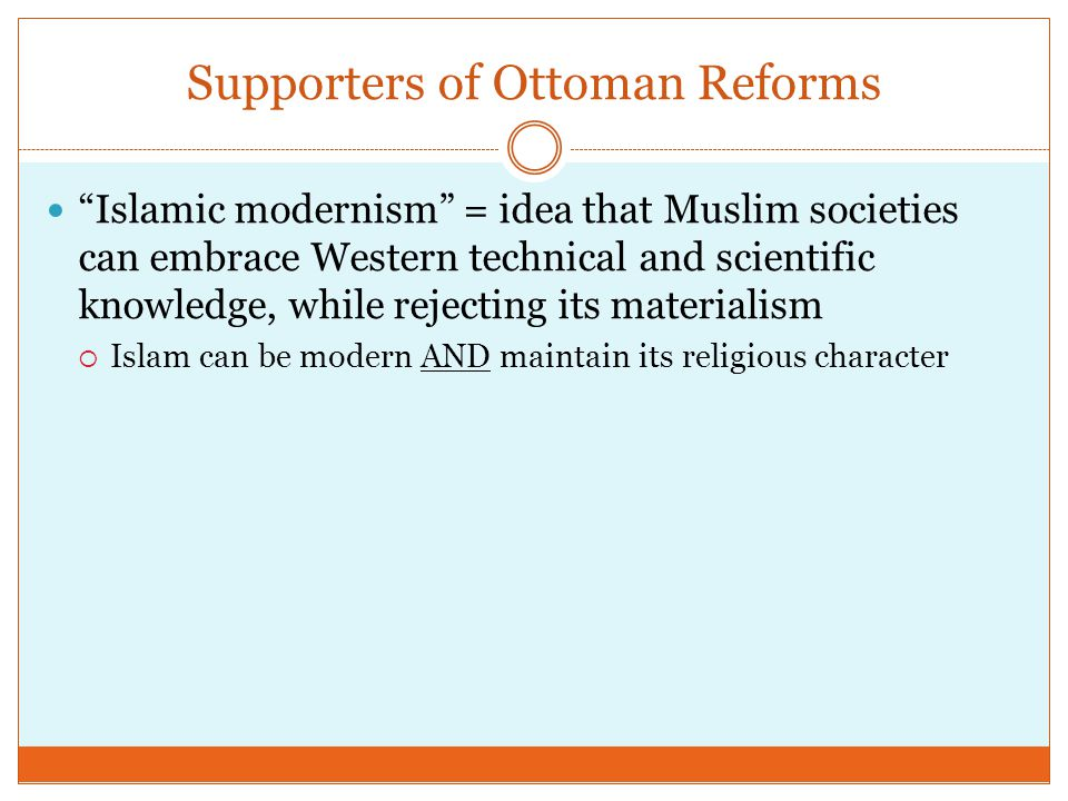 Supporters of Ottoman Reforms