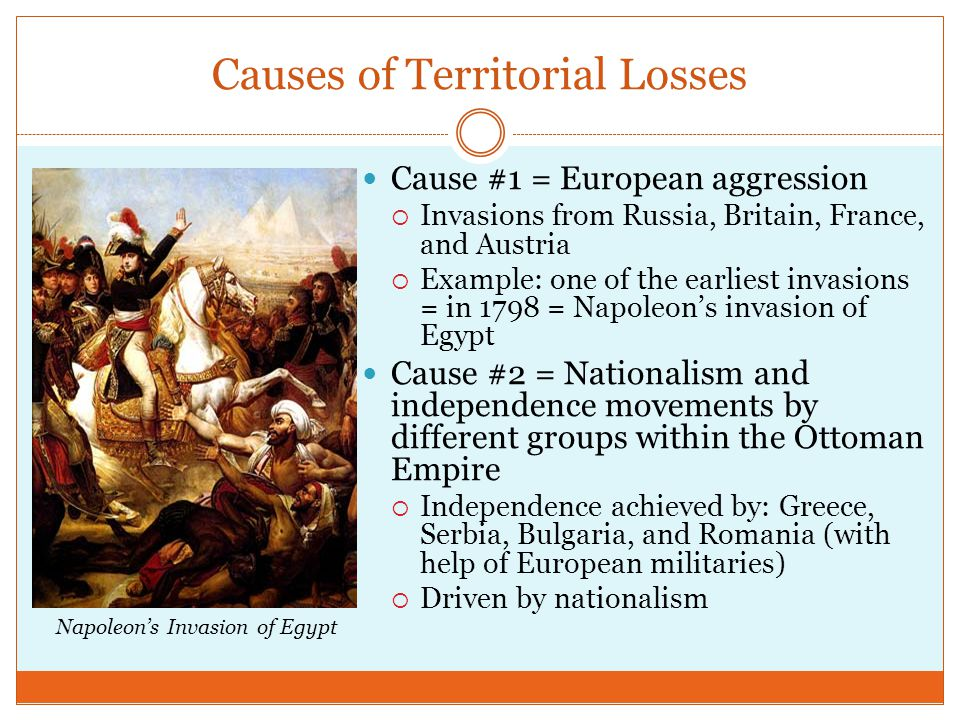 Causes of Territorial Losses