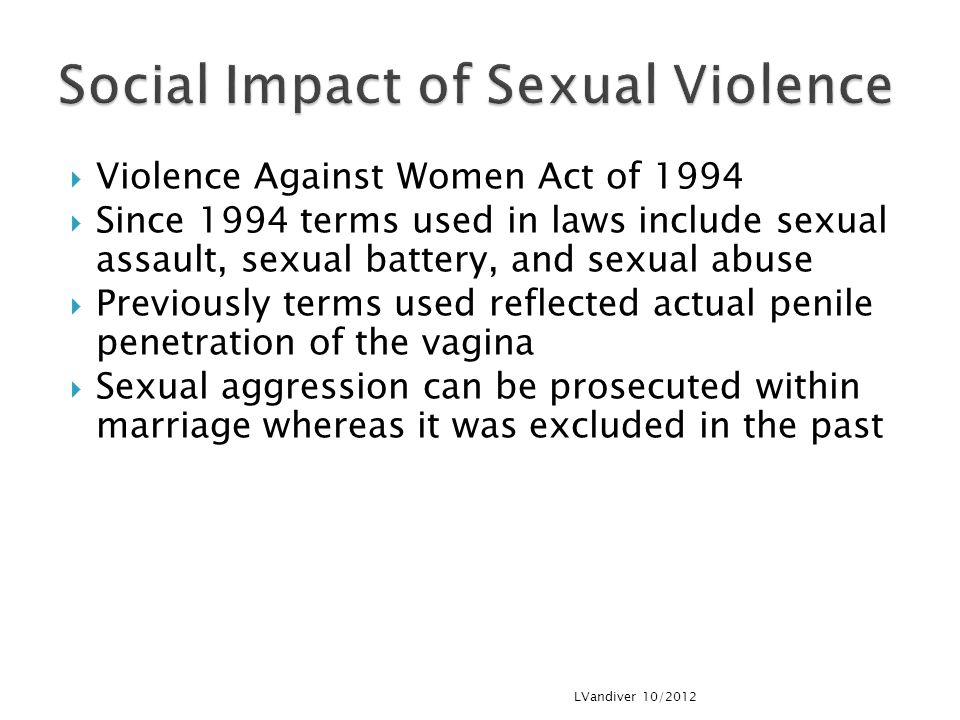 Social Impact of Sexual Violence