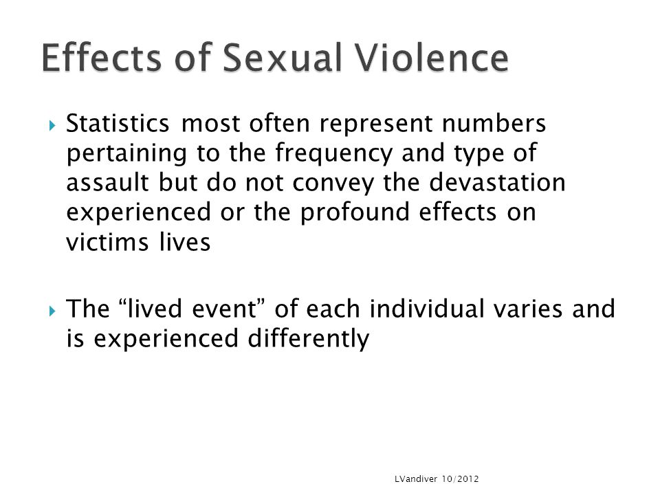 Effects of Sexual Violence