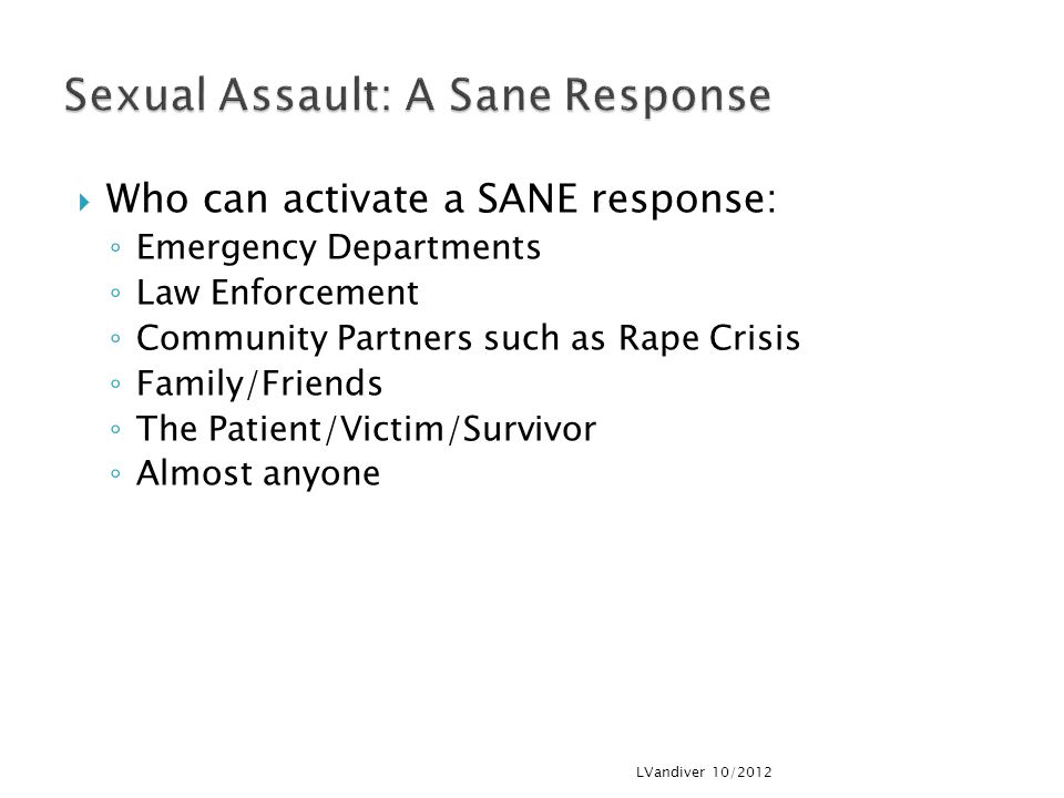 Sexual Assault: A Sane Response