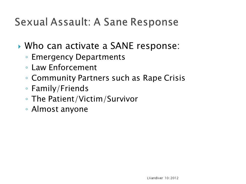 Sexual Assault: A Sane Response