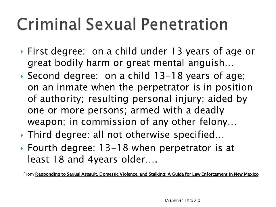 Criminal Sexual Penetration