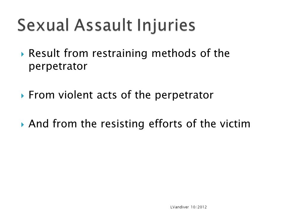 Sexual Assault Injuries