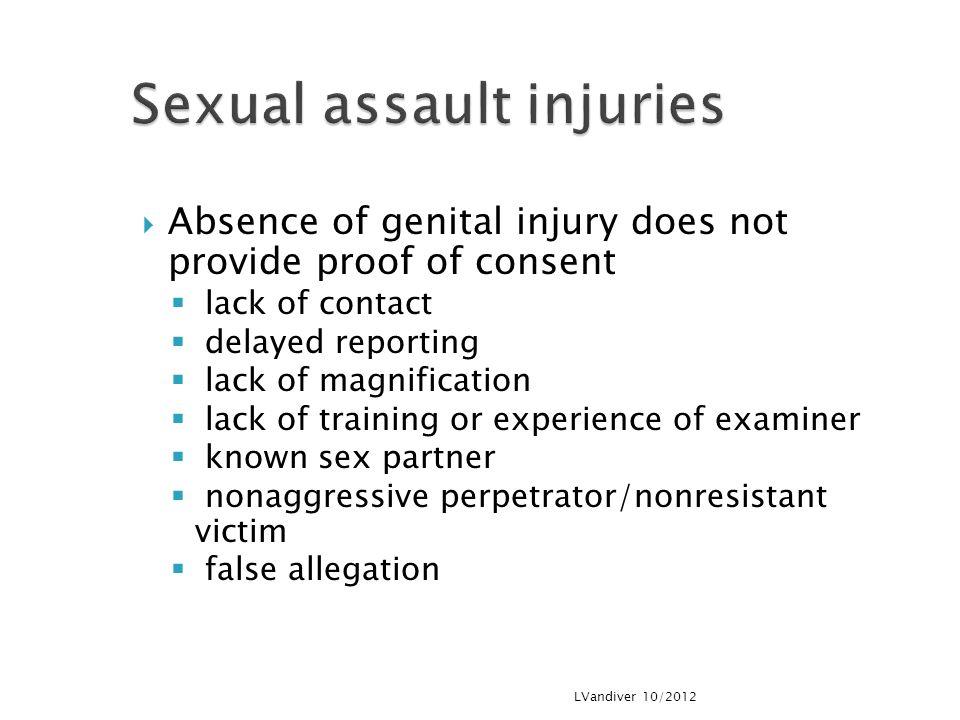 Sexual assault injuries