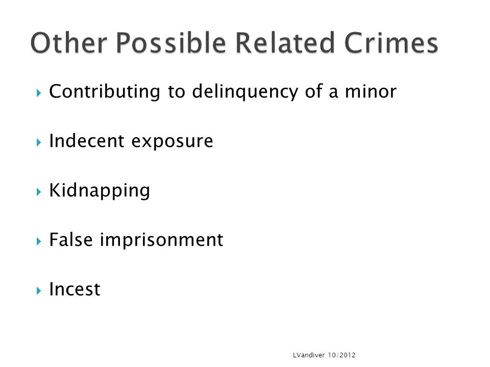 Other Possible Related Crimes