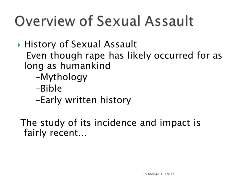 Overview of Sexual Assault