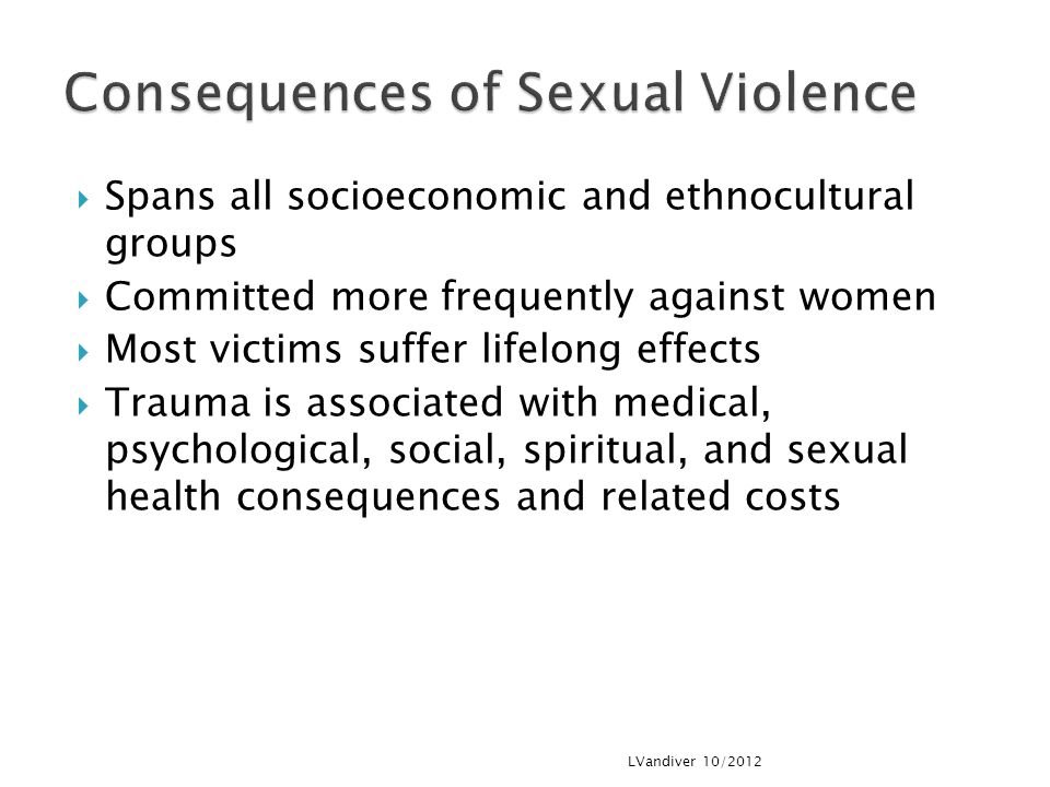 Consequences of Sexual Violence