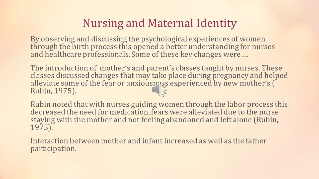 Nursing and Maternal Identity