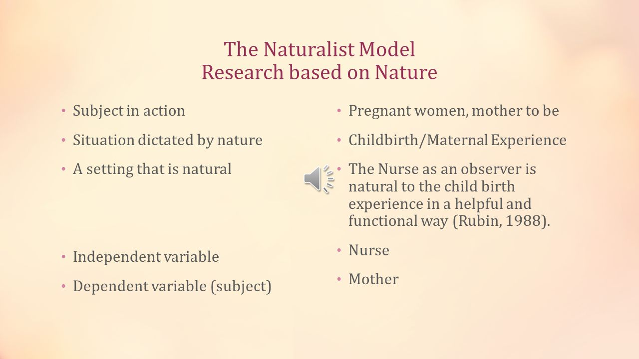 The Naturalist Model Research based on Nature
