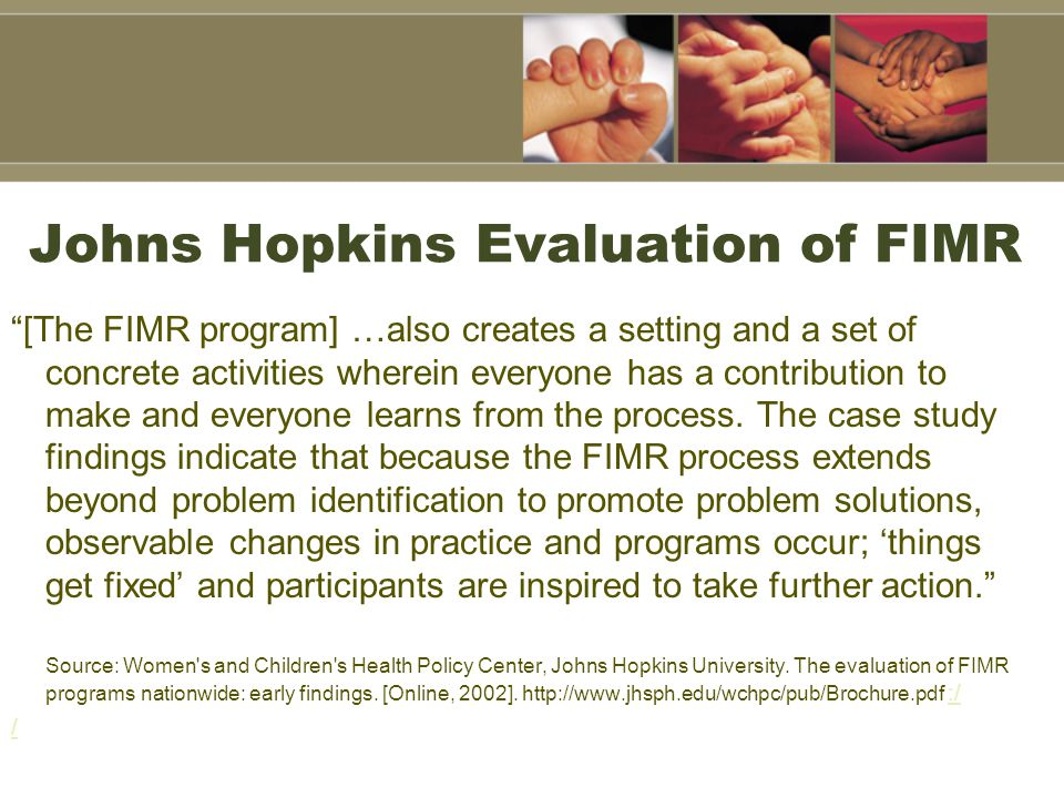 Johns Hopkins Evaluation of FIMR