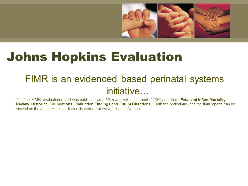 Johns Hopkins Evaluation