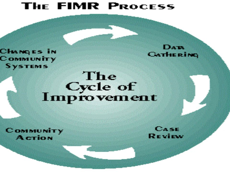 What is FIMR – FIMR is a type of continuous quality improvement where review of de-identified cases leads to improvements in services and resources for women infants and families