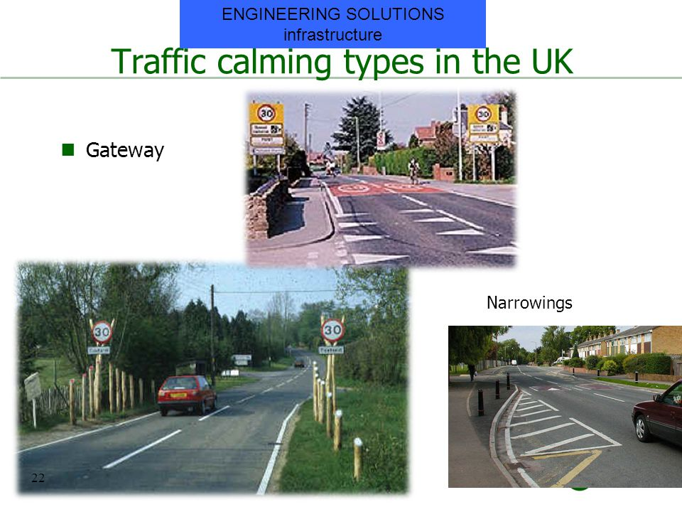 Traffic calming types in the UK