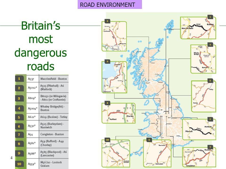 Britain's most dangerous roads