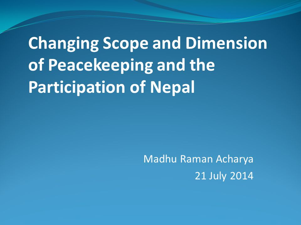 Madhu Raman Acharya 21 July 2014